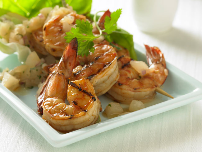 Asian Grilled Shrimp with Pear Relish