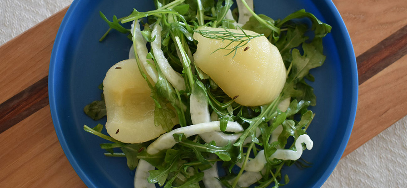 Pear and Arugula Salad with Fennel and Caraway