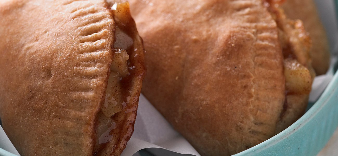 Empanada pastry filled with pears.