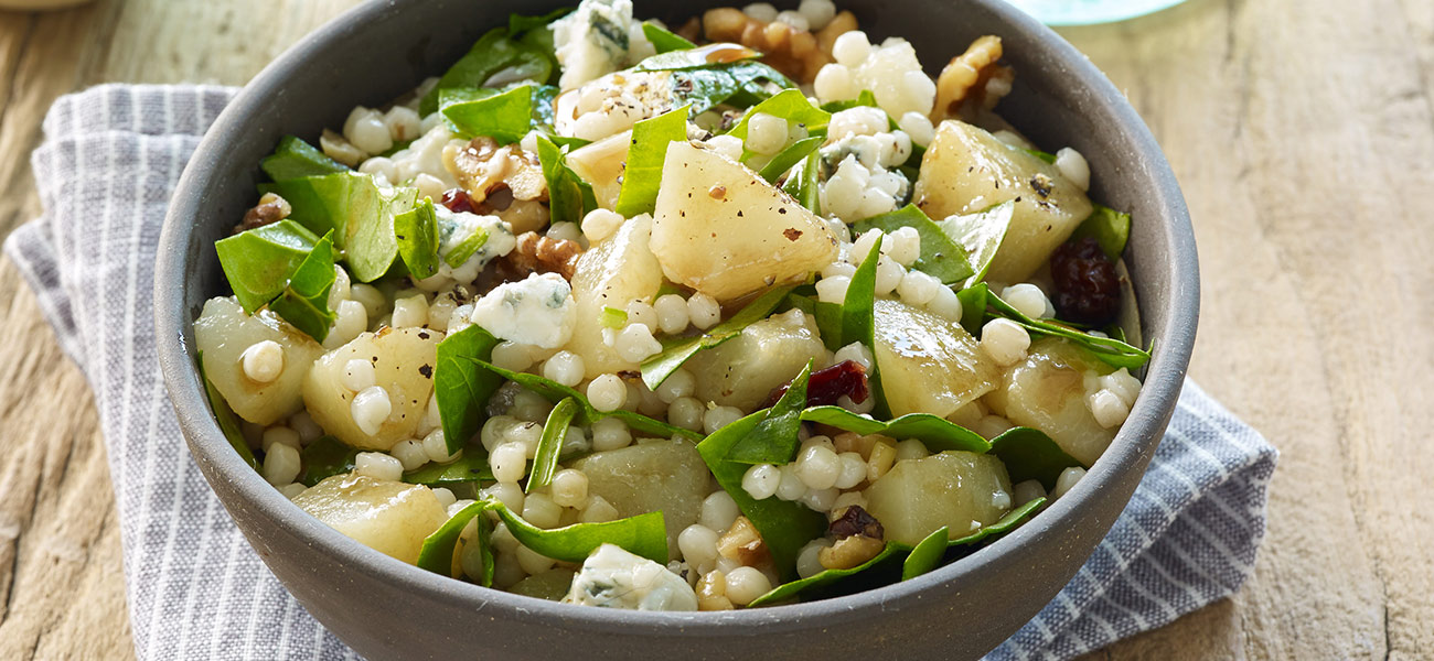 http://eatcannedpears.com/recipes/pear-and-pearl-couscous-salad